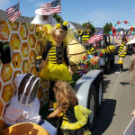 Honey bee float in July 4th parade